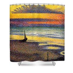 Sunset On The Beach 1891 Shower Curtain