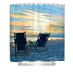 Sunset On The Beach Shower Curtain