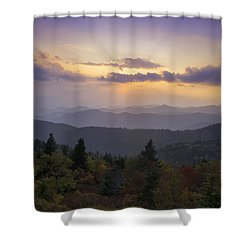 Sunset On The Blue Ridge Parkway Shower Curtain by Rob Travis