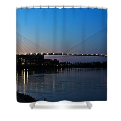 Sunset On The Bob Kerry Pedestrian Bridge Shower Curtain