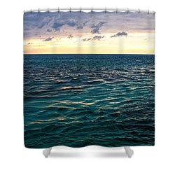 Sunset On The Caribbean Shower Curtain by Lars Lentz