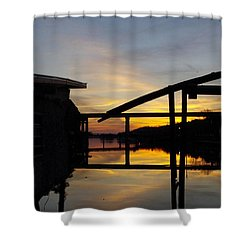 Sunset On The Coosa River Shower Curtain