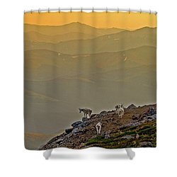 Shower Curtain featuring the photograph Sunset On The Edge by Scott Mahon