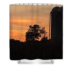 Sunset On The Farm Shower Curtain by Teresa Schomig
