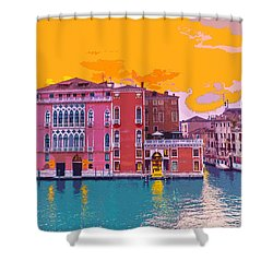 Sunset On The Grand Canal Venice Shower Curtain