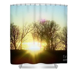 Sunset On The Hill Shower Curtain
