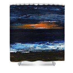 Sunset On The Horizon Shower Curtain