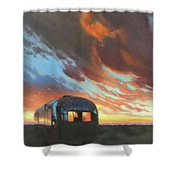 Sunset On The Mesa Shower Curtain
