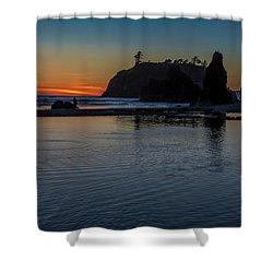 Sunset On The Oregon Coast Shower Curtain