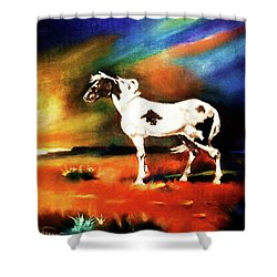 Sunset On The Plains Shower Curtain