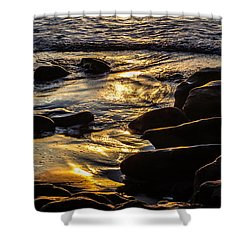 Sunset On The Rocks Shower Curtain