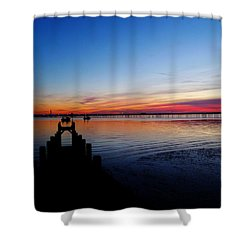 Sunset On The Shore Of Southend Shower Curtain