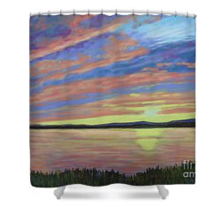 Sunset On The South Shore  Shower Curtain