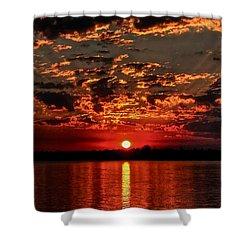 Sunset On The Zambezi Shower Curtain