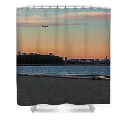 Sunset On Wollaston Beach In Quincy Massachusetts Shower Curtain