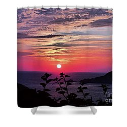 Sunset On Zihuatanejo Bay Shower Curtain
