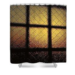 Sunset Orange Shower Curtain