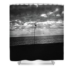 Sunset Ostia Beach Shower Curtain