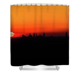 Sunset Over Atlanta Shower Curtain