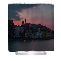 Sunset Over Bamberg Shower Curtain