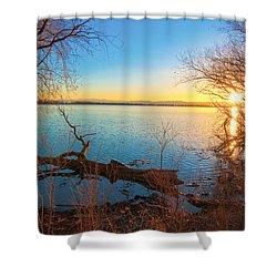 Sunset Over Barr Lake Shower Curtain