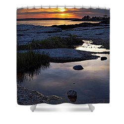 Sunset Over Boothbay Harbor Maine  -23095-23099 Shower Curtain