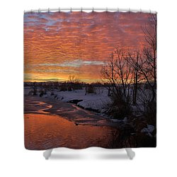 Sunset Over Bountiful Lake Shower Curtain