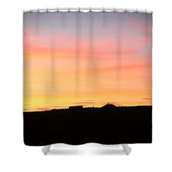Shower Curtain featuring the photograph Sunset Over Cairnpapple by RKAB Works