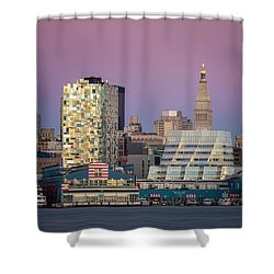 Shower Curtain featuring the photograph Sunset Over Chelsea by Eduard Moldoveanu