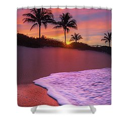 Sunset Over Coral Cove Park In Jupiter, Florida Shower Curtain by Justin Kelefas