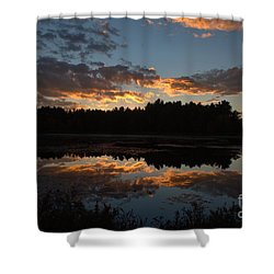 Sunset Over Cranberry Bogs Shower Curtain