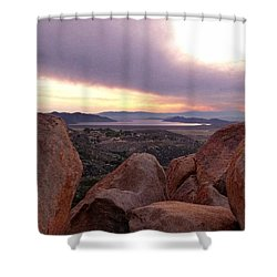 Sunset Over Diamond Valley Lake Shower Curtain