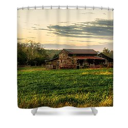 Shower Curtain featuring the photograph Sunset Over Dogwood Ridge by Mark Guinn
