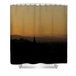 Shower Curtain featuring the photograph Sunset Over Florence by Wade Brooks
