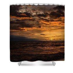 Sunset Over Hawaii Shower Curtain by Chris McKenna