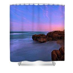 Sunset Over House Of Refuge Beach On Hutchinson Island Florida Shower Curtain