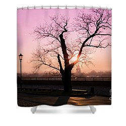 Shower Curtain featuring the photograph Sunset Over Krakow by Juli Scalzi