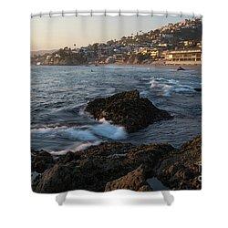 Sunset Over Laguna Beach   Shower Curtain