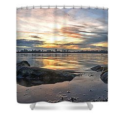 Sunset Over Lake Kralingen  Shower Curtain