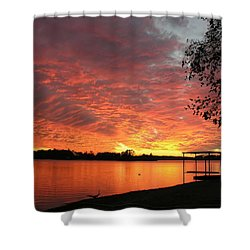 Sunset Over Lake Murray Shower Curtain