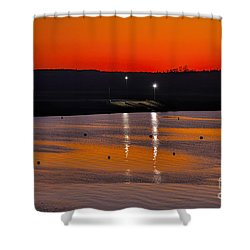 Shower Curtain featuring the photograph Sunset Over Lake Texoma by Diana Mary Sharpton