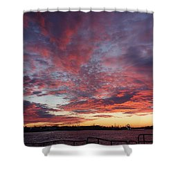 Manasquan Inlet Sunset    Shower Curtain