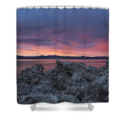 Shower Curtain featuring the photograph Sunset Over Mono Lake by Sandra Bronstein