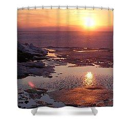 Sunset Over Oneida Lake - Horizontal Shower Curtain