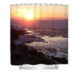 Sunset Over Oneida Lake - Vertical Shower Curtain