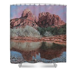 Sunset Over Red Rocks Of Sedona  Shower Curtain