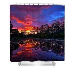 Sunset Over Riverbend Park In Jupiter Florida Shower Curtain