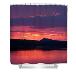 Sunset Over Sabao Shower Curtain by Brent L Ander