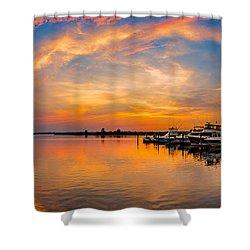 Sunset Over Shrewsbury Bay Shower Curtain