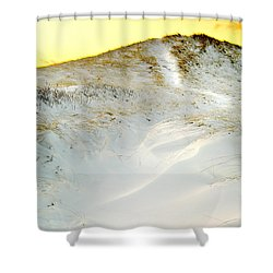 Sunset Over Snow Dune In Cape Cod Shower Curtain by Matt Suess